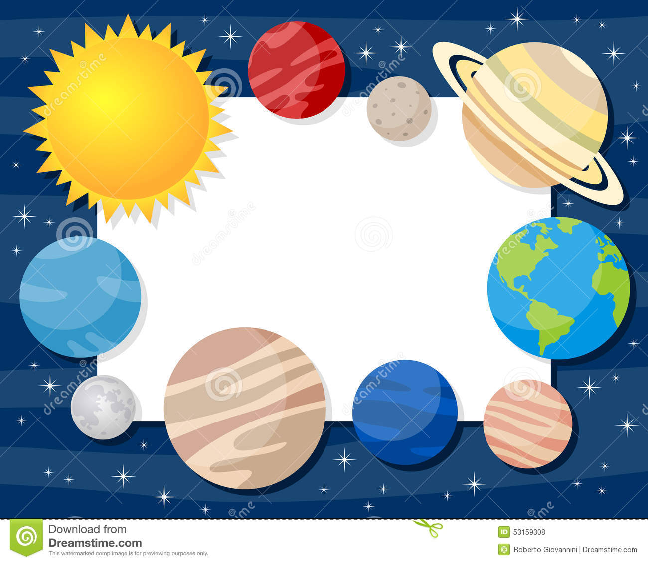 748 Solar System free clipart.