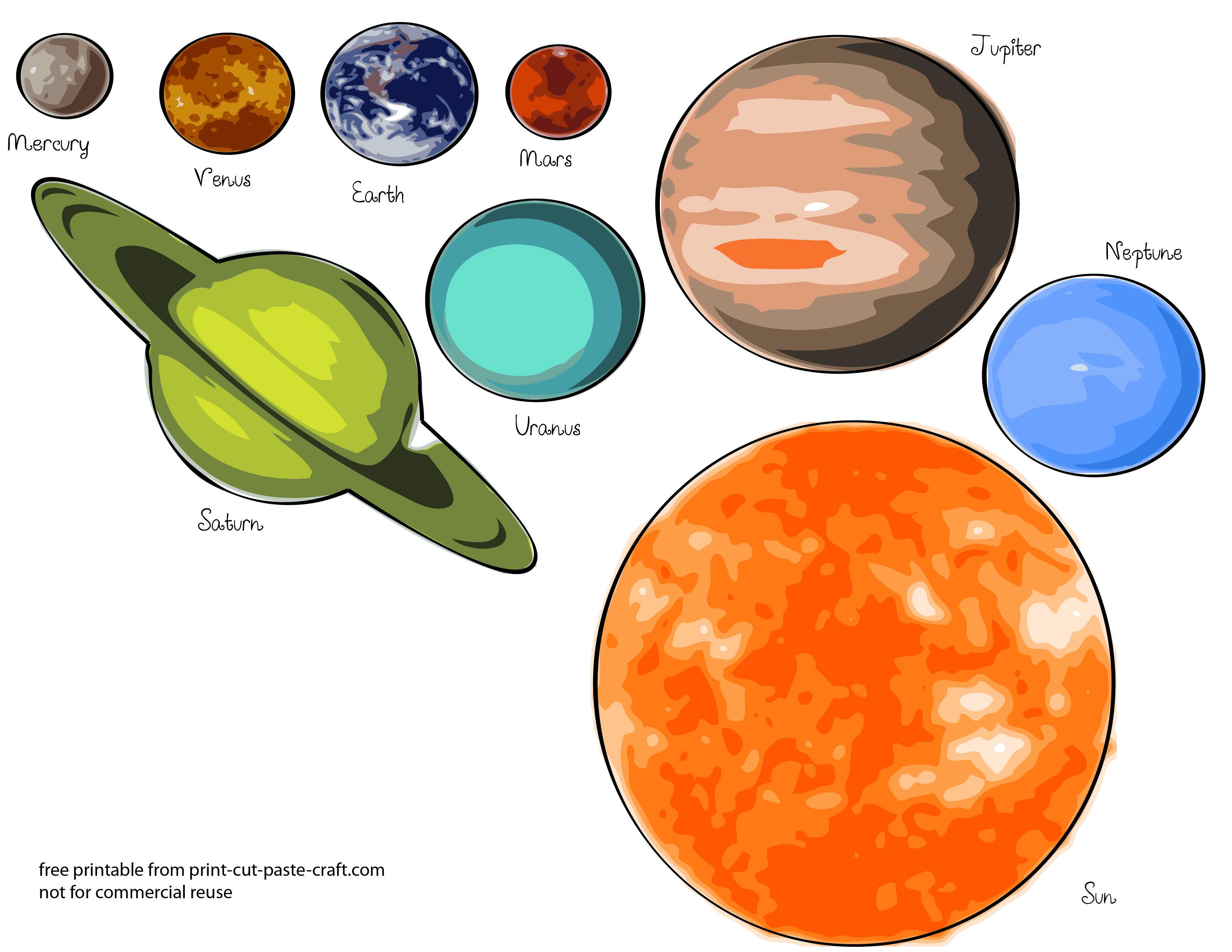 Free Printables Planets.