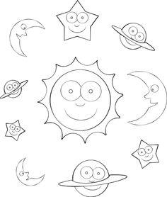 Solar System Mini Book from TwistyNoodle.com.