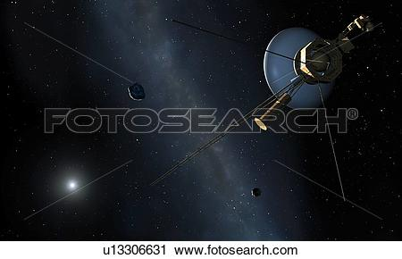 Stock Photography of Voyager II Probe Leaves Solar System.