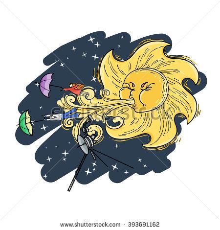 Solar Umbrella Stock Images, Royalty.