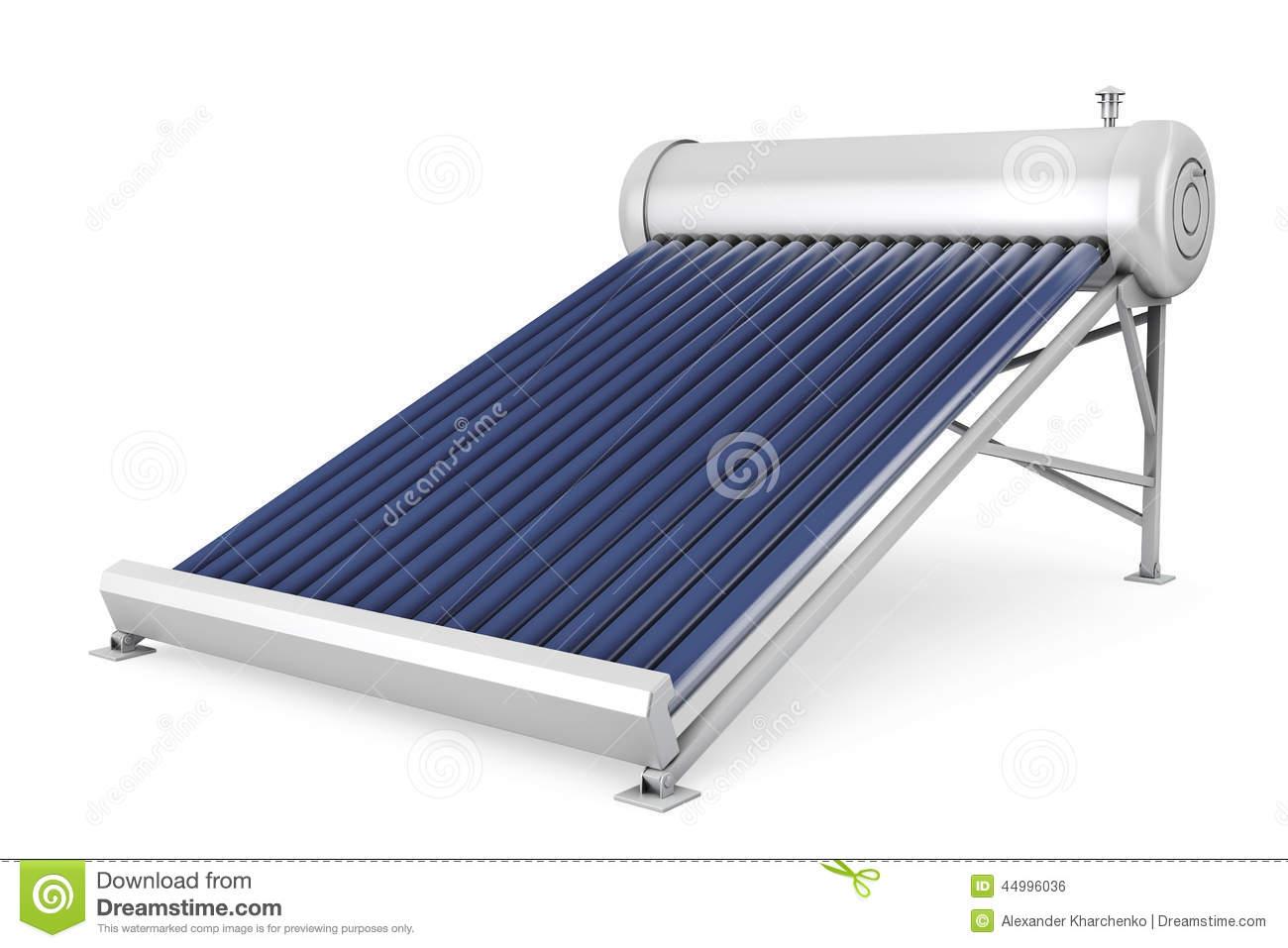 Solar Water Heater Panels Stock Illustration.