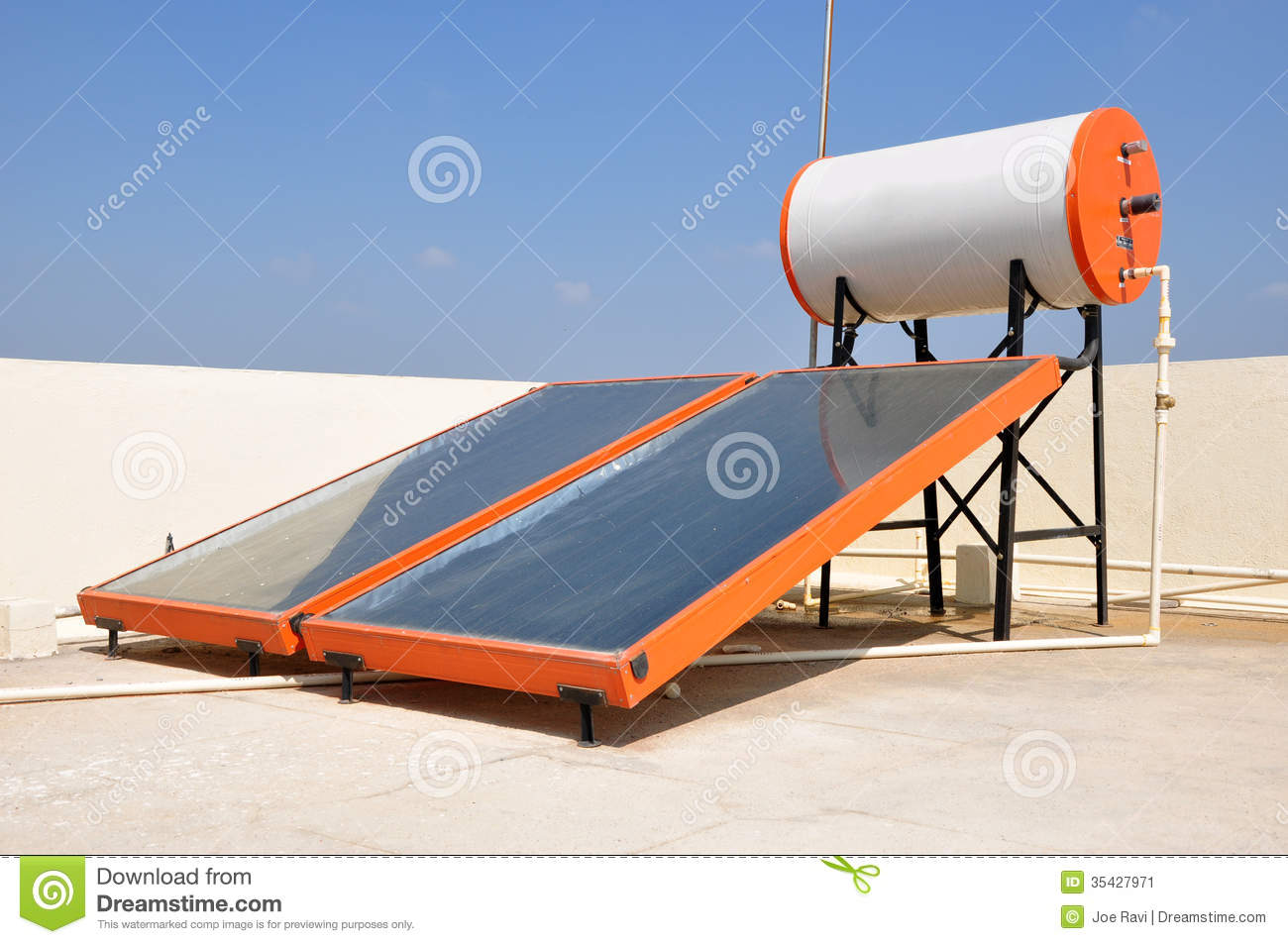 Solar Water Heater Clipart Clipground