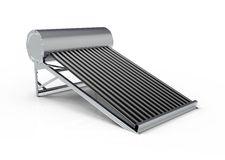 Evacuated Tube Solar Water Heater Stock Illustration.