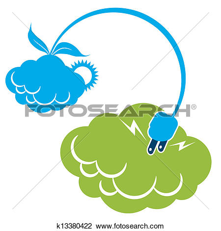 Clipart of Solar Wind Cloud Energy k13380422.