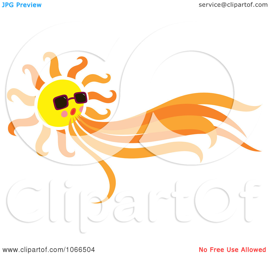 Sun and wind clipart.