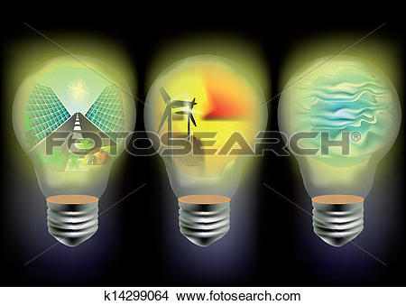 Clipart of solar, wind and wave energy k14299064.