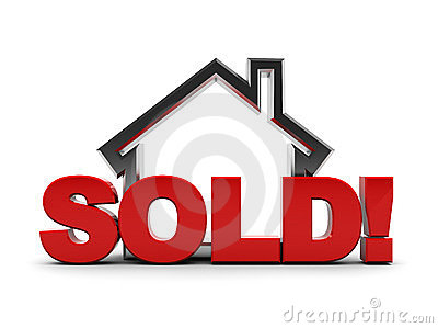 Sold House Clip Art.
