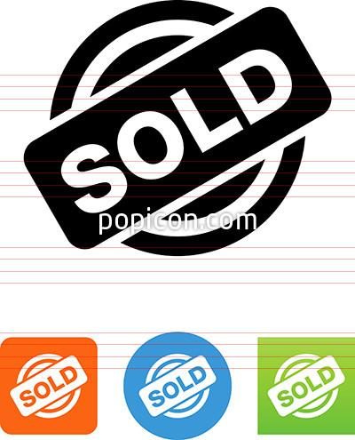 Sold Stamp Icon.