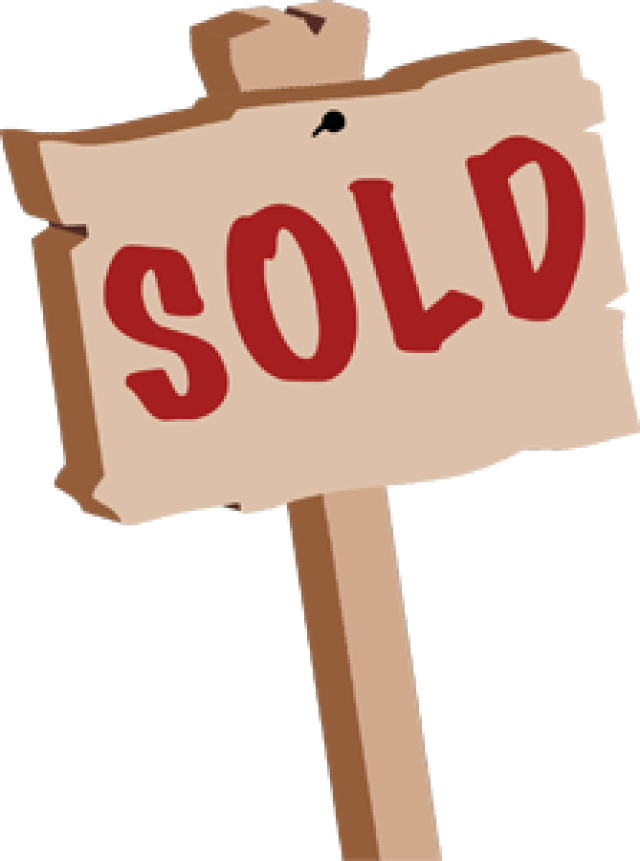 Free Sold Sign Clipart Image.