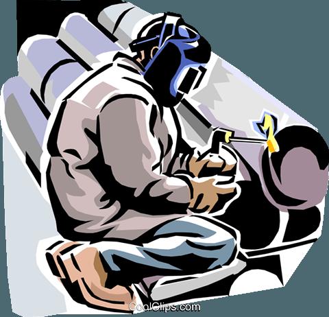 soldador de solda tubos livre de direitos Vetores Clip Art.
