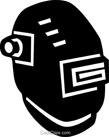 máscara de solda livre de direitos Vetores Clip Art ilustração.