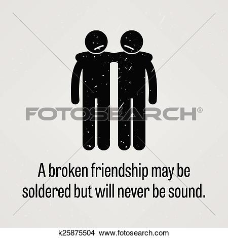 Clipart of A Broken Friendship may be Soldered k25875504.