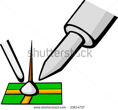Soldering Iron Clipart.