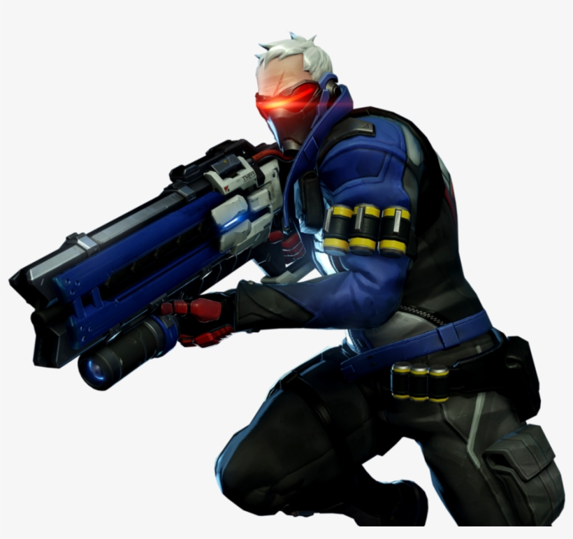 Overwatch Soldier 76 Png Vector Black And White.