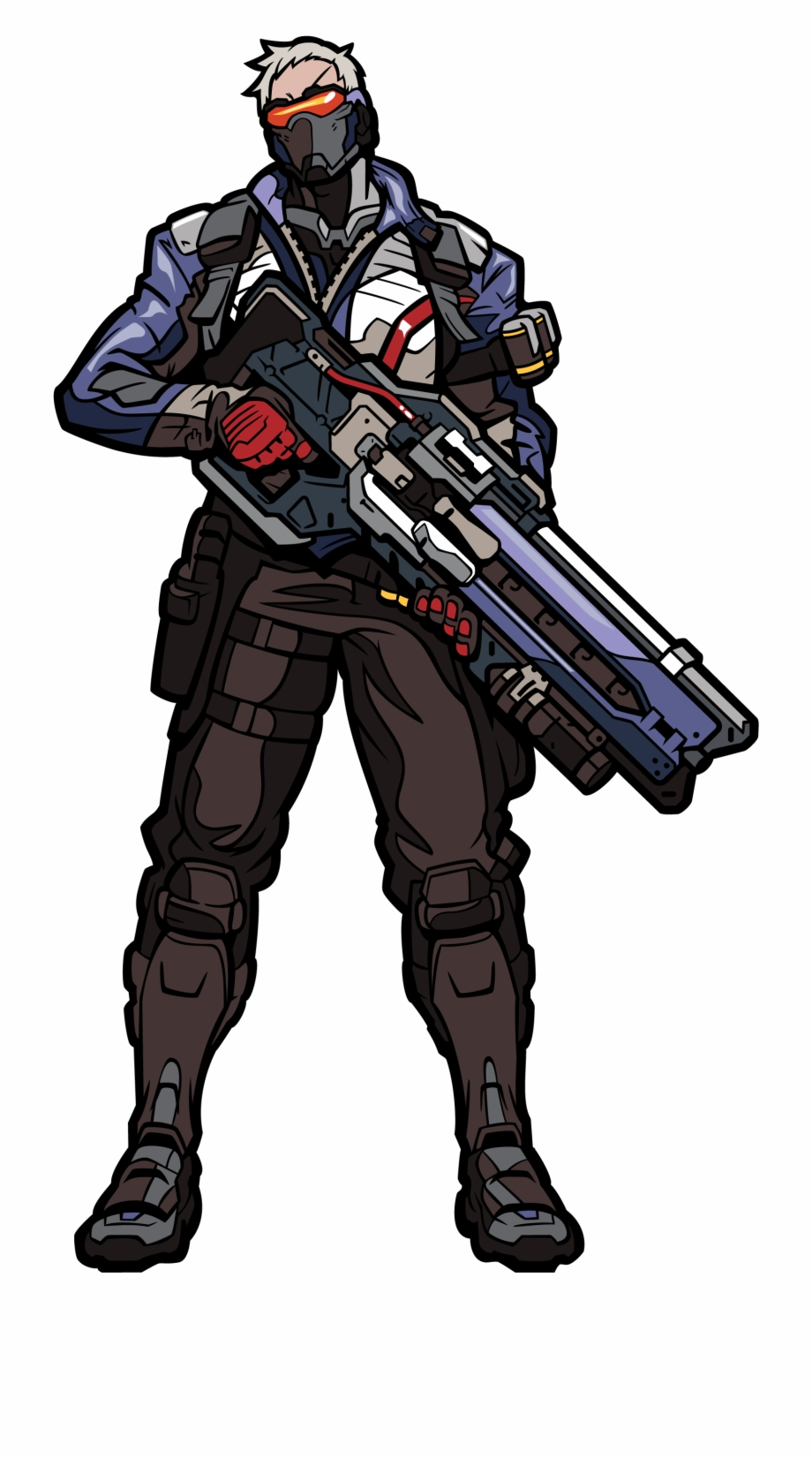 Soldier 76 , Png Download.