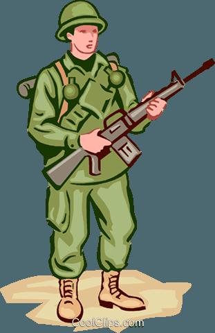 Soldier Royalty Free Vector Clip Art illustration.