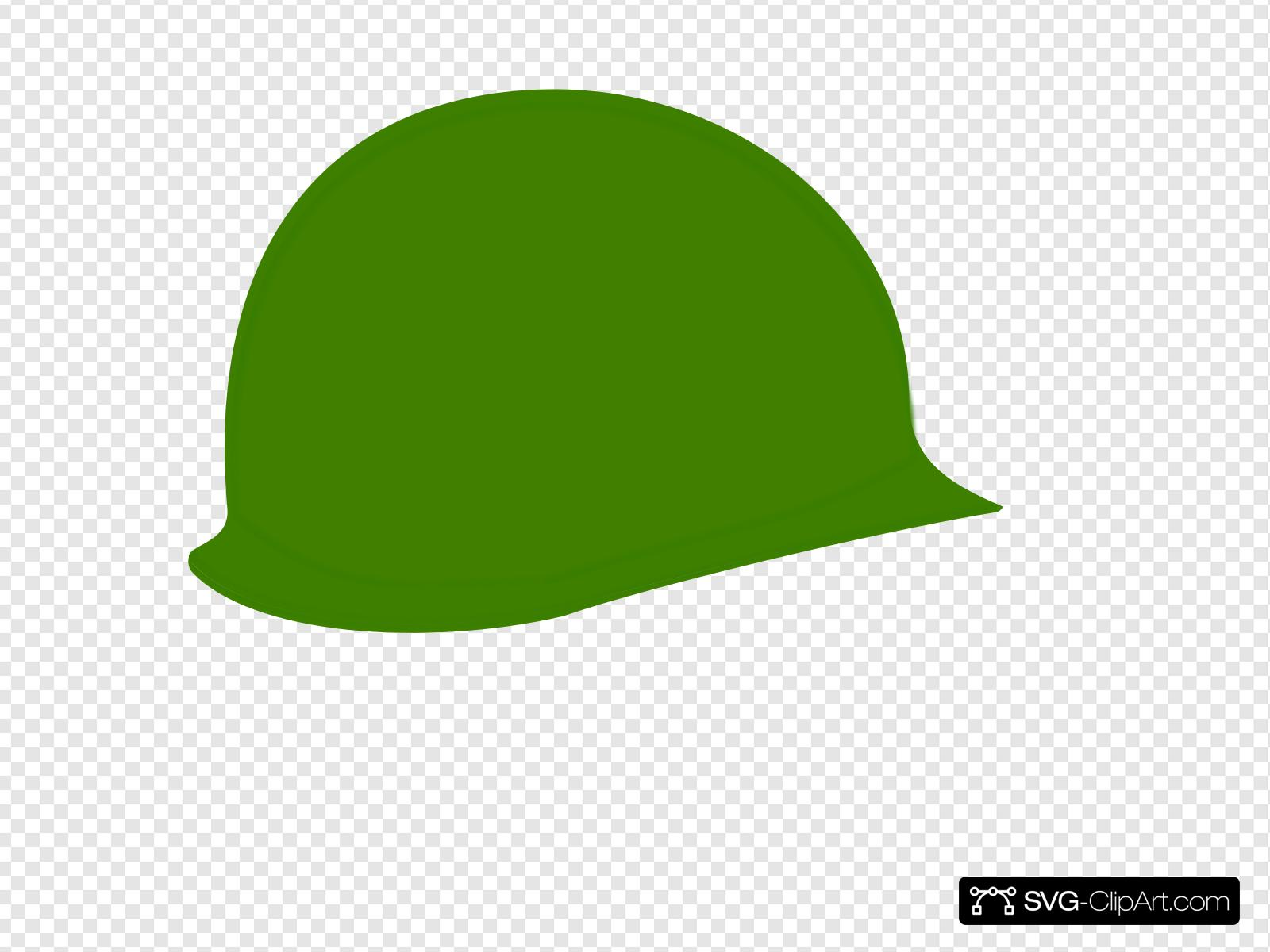 Green Soldier Helmet Clip art, Icon and SVG.