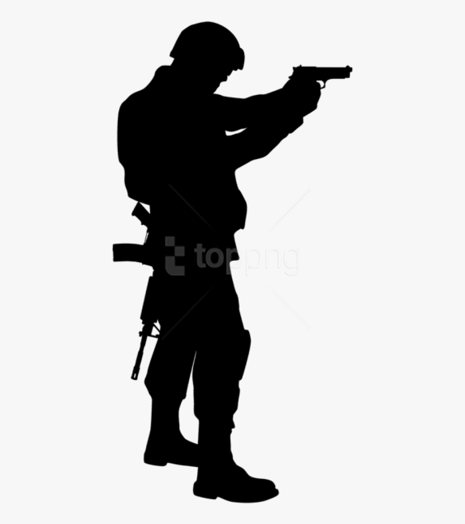 Soldier Clipart Shadow.