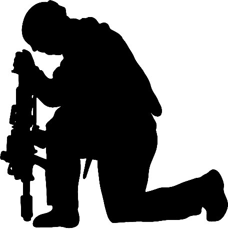 Free Soldier Praying Silhouette, Download Free Clip Art.