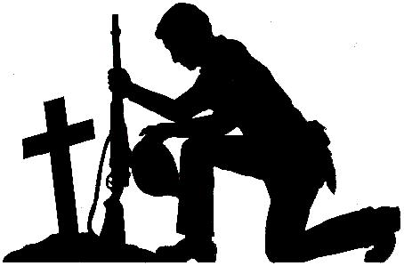 Soldier Praying Clipart.