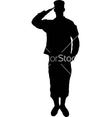Soldier Saluting Clipart.