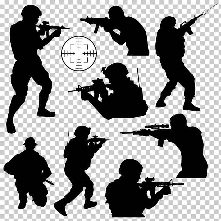 Body Combat Soldier , Shooting military buckle creative HD.