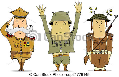 EPS Vector of Soldiers.