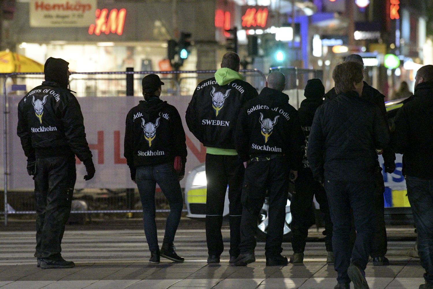 Swedish Soldiers of Odin group involved in 'extremist' clashes.