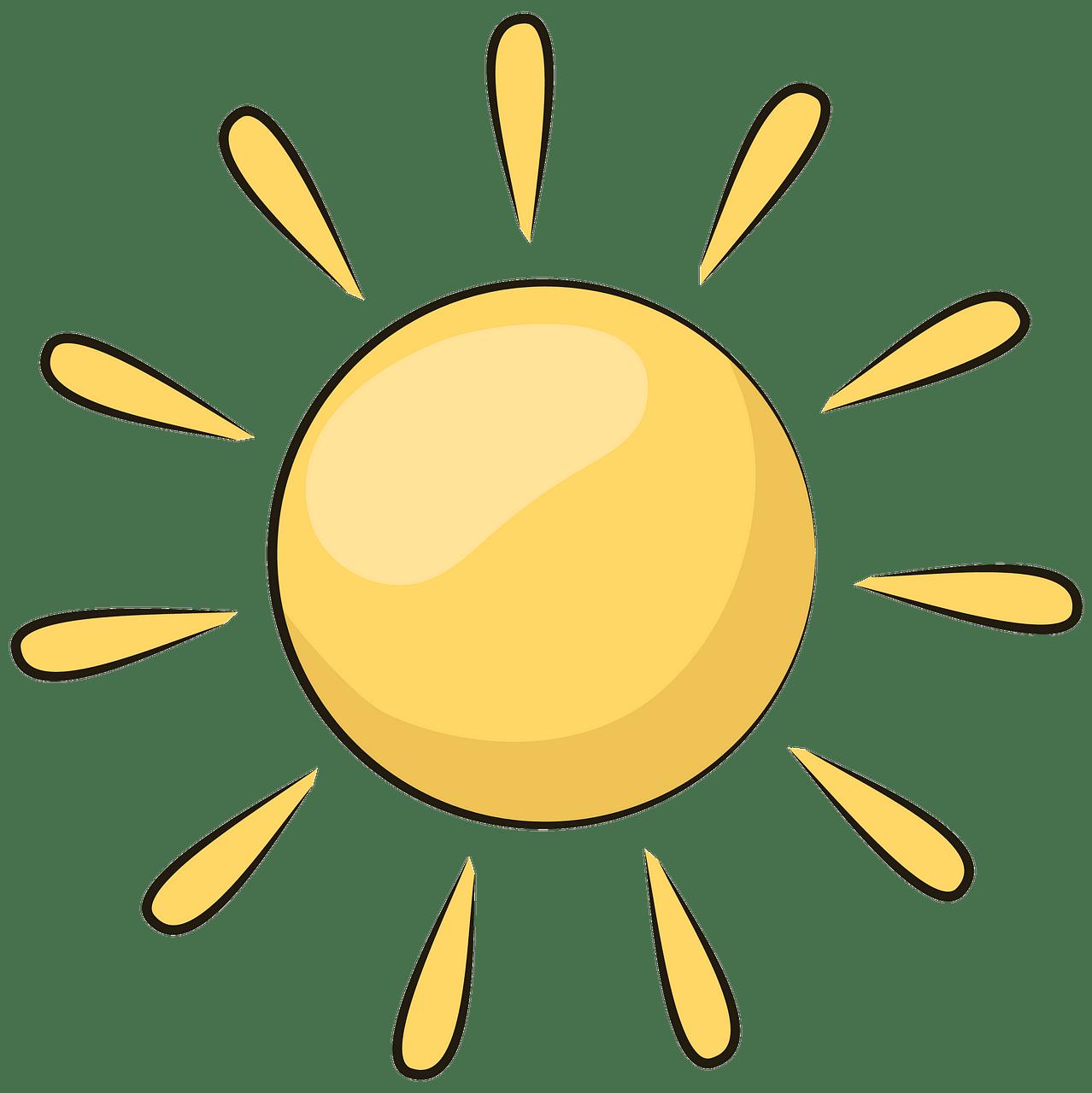 Sun clipart. Free download..