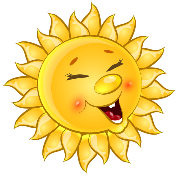 Transparent Cute Sun Cartoon PNG Clipart Picture.