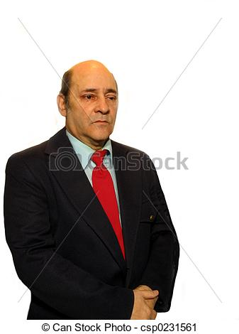 Stock Photography of Solemn Look.