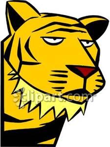 Cartoon Tiger Face.