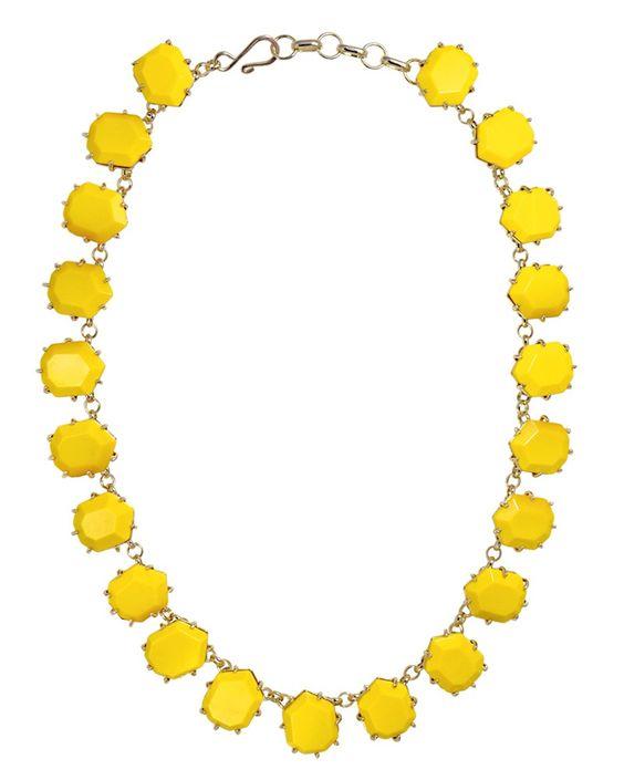 Kendra Scott Sam necklace in yellow.