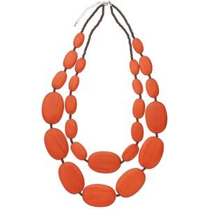 Orange Statement Necklaces.