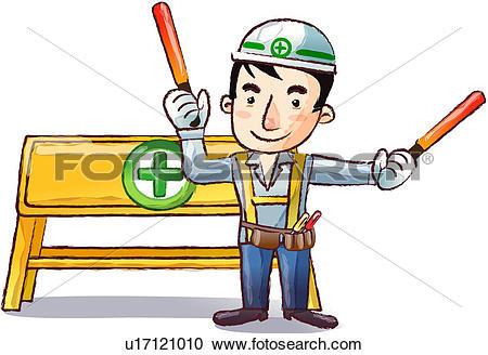 Stock Illustrations of Construction Site u17121010.