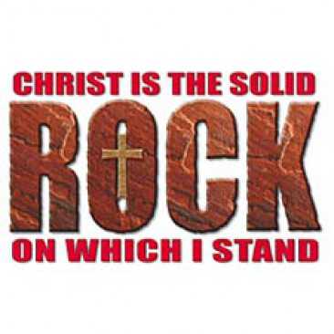 Christ Is The Solid Rock for $9.95 at ChristianGear.com.