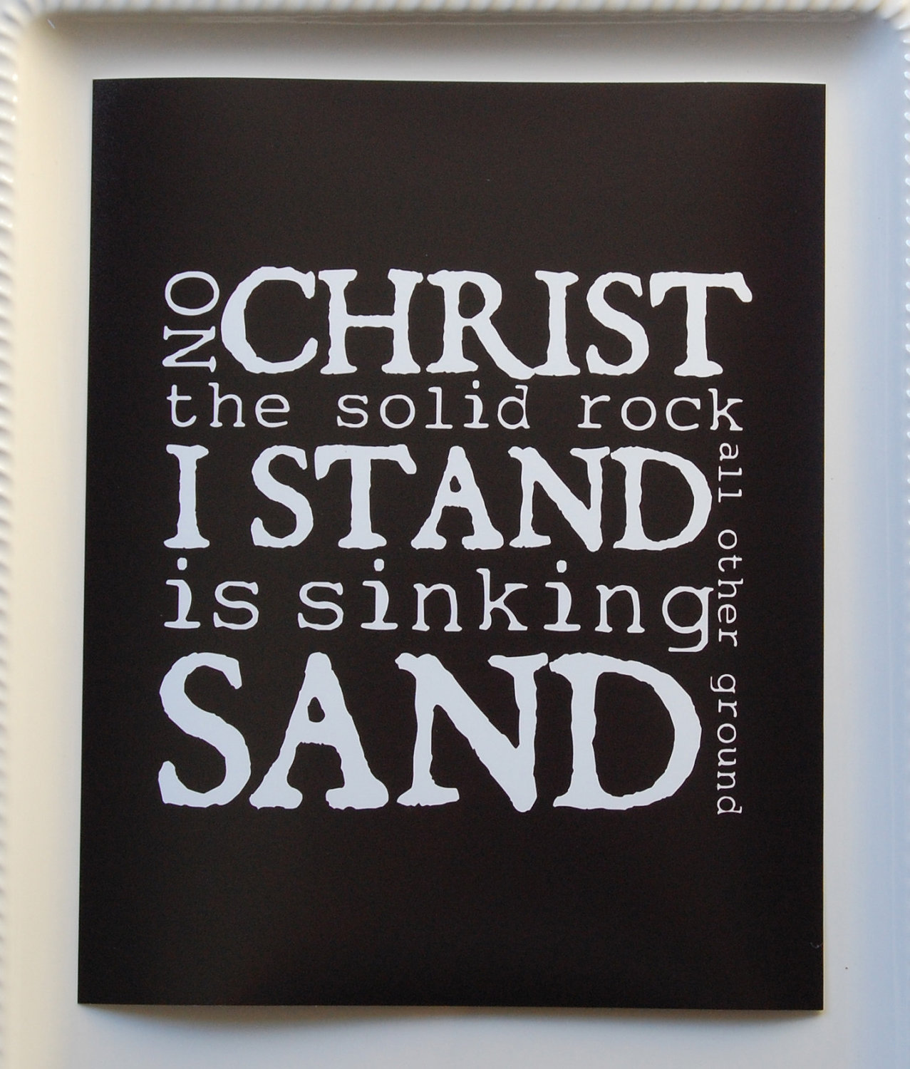 Jesus the solid rock clipart.