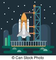 Solid rocket booster Vector Clipart Illustrations. 3 Solid rocket.