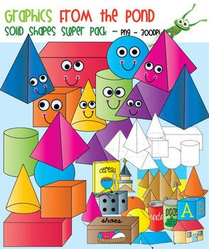 Solid Shapes Clipart.