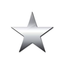 Solid star clipart.