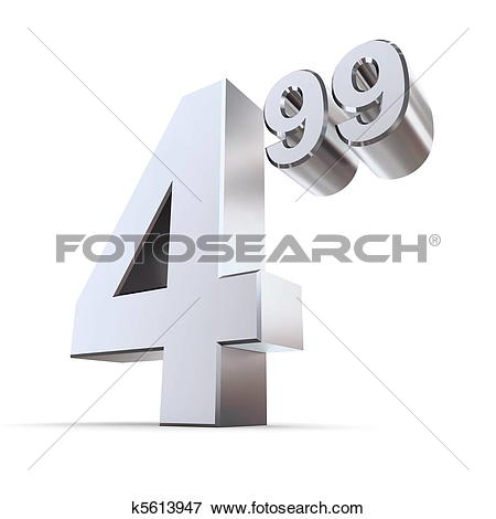Stock Illustration of Solid Price Tag Number 4.99.