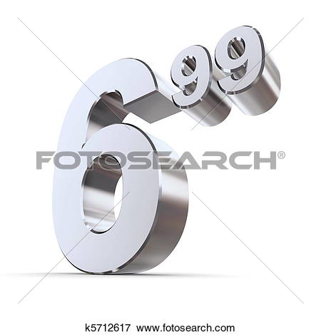 Stock Illustration of Solid Price Tag Number 6.99.