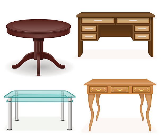 Solid Wood Furniture Background Clip Art, Vector Images.