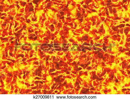 Clipart of eruption volcano. solidified lava texture k27009811.