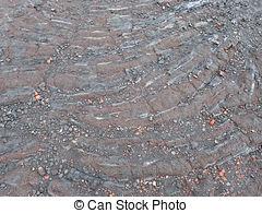 Stock Image of Lava Flow Hawaii.