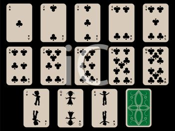 Cards Laid Out for a Game of Solitaire.