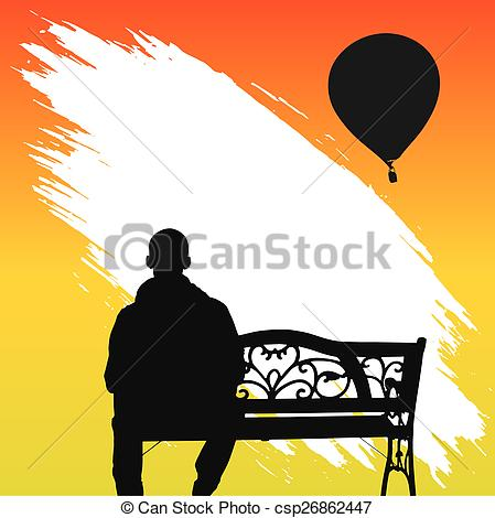 Solitary person Vector Clipart Illustrations. 46 Solitary person.