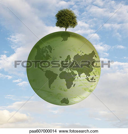 Stock Photo of Solitary tree remaining on earth paa607000014.