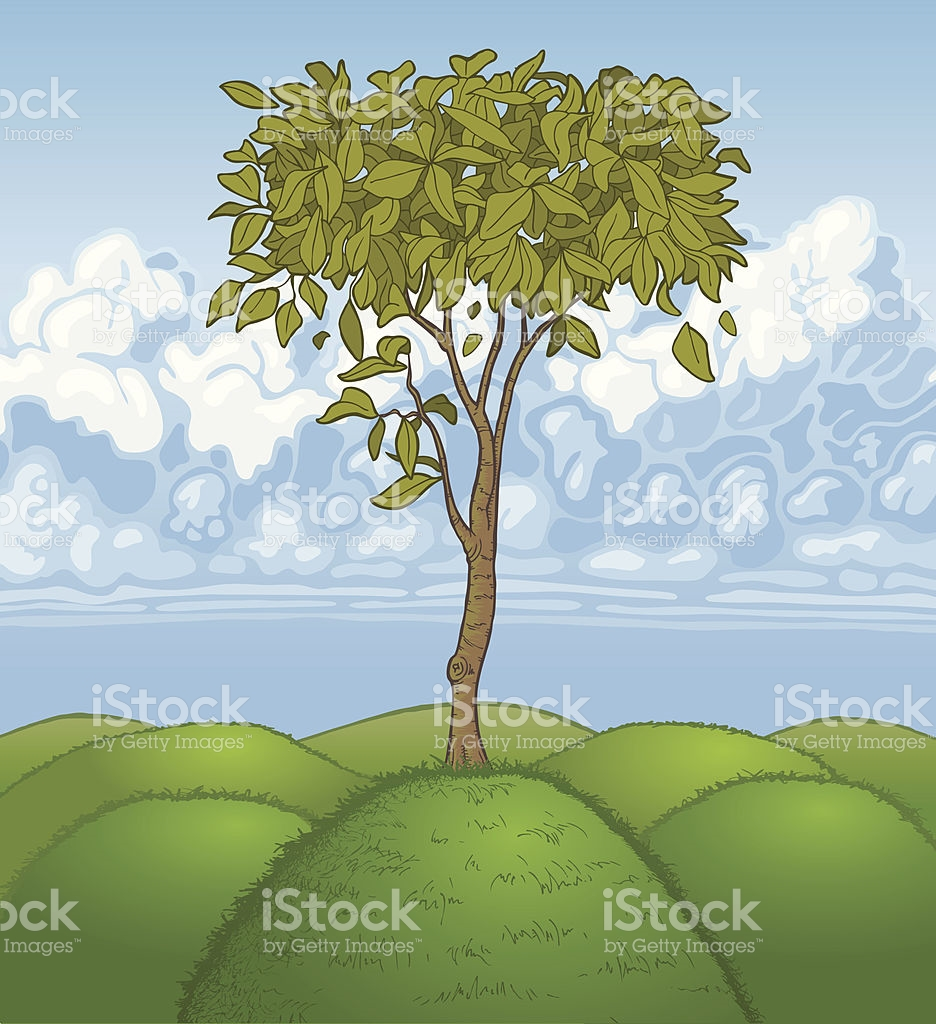 Solitary Tree stock vector art 165687921.